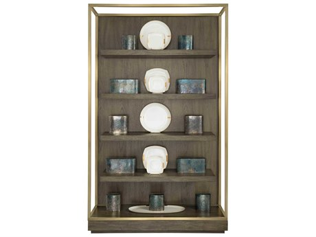 Bernhardt Profile Warm Taupe / Tapestry Gold Etagere BH378812