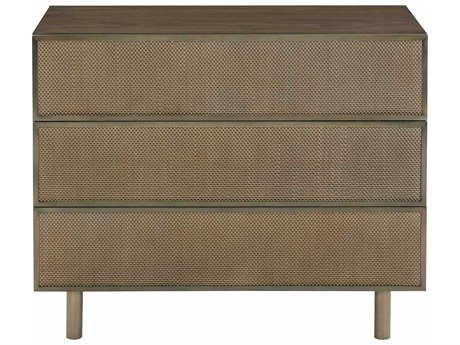 Bernhardt Profile Tapestry Gold 3 Drawers Nightstand BH378218
