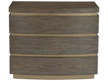 Bernhardt Profile Warm Taupe / Tapestry Gold 3 Drawers Nightstand BH378232
