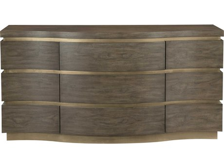 Bernhardt Profile Warm Taupe / Tapestry Gold 8 Drawers and up Triple Dresser BH378052
