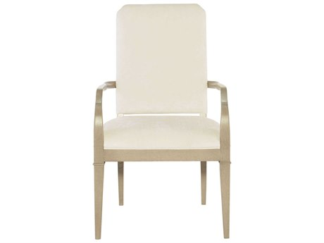 Bernhardt Savoy Place Champagne Ivory Dining Arm Chair