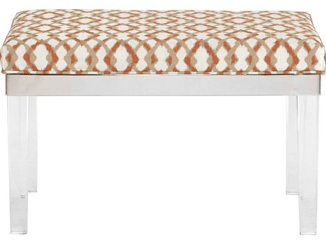 Bernhardt Soho Luxe Silver Accent Bench