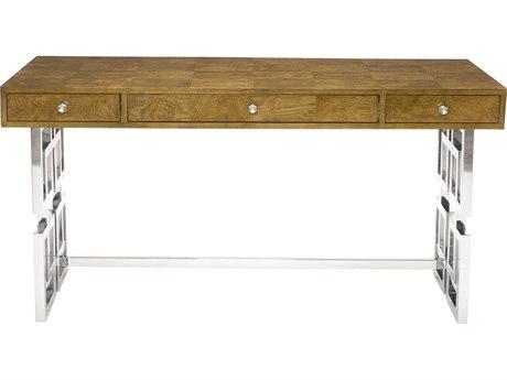 Bernhardt Soho Luxe Dark Caramel / Silver Secretary Desk
