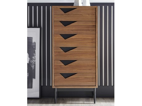 Bobby Berk for A.R.T Furniture Walnut Six-Drawer Chest of Drawers