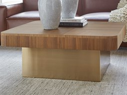 Walnut 40'' Wide Square Coffee Table