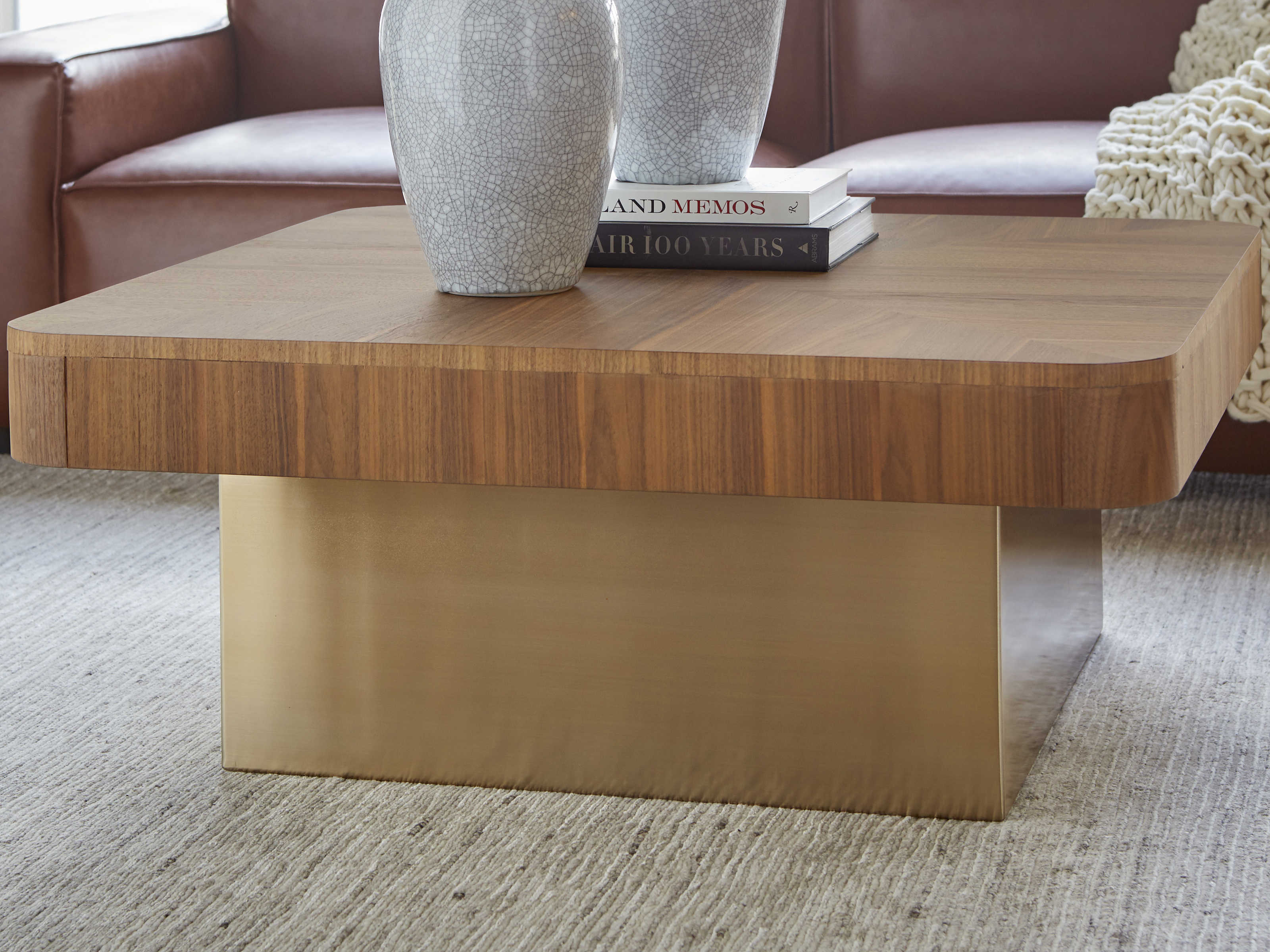 Bobby Berk For A R T Furniture Walnut 40 Wide Square Coffee Table