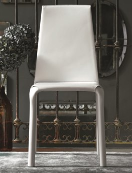 Bontempi Alice White Side Dining Chair BON4017Q429