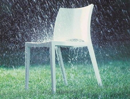 Bontempi Aqua White Side Dining Chair BON04.24Z031