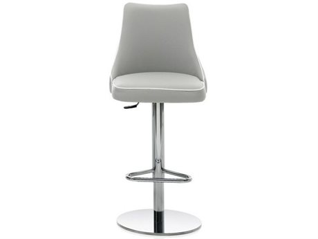 Bontempi Clara Light Gray Side Adjustable Swivel Bar Height Stool BON4059G093TR516