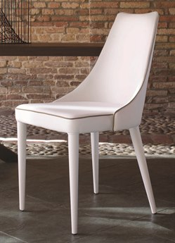 Bontempi Clara White Side Dining Chair BON40.11TR505