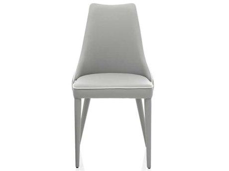 Bontempi Clara Light Gray Side Dining Chair