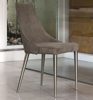 Bontempi Clara Natural Silver / Mink Side Dining Chair BON4090M326TN004T