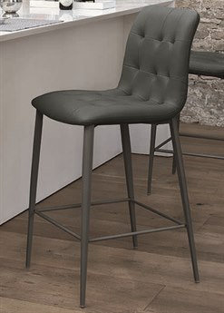 Bontempi Kuga Anthracite Side Bar Height Stool BON4041M310TR517