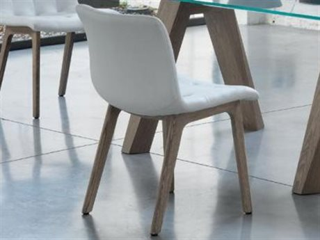 Bontempi Kuga Oak / White Side Dining Chair BON4037L002TR505