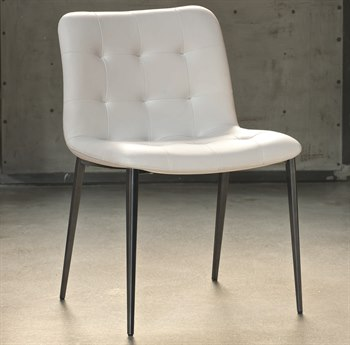 Bontempi Kuga Natural Silver / White Side Dining Chair BON4038M326TR505