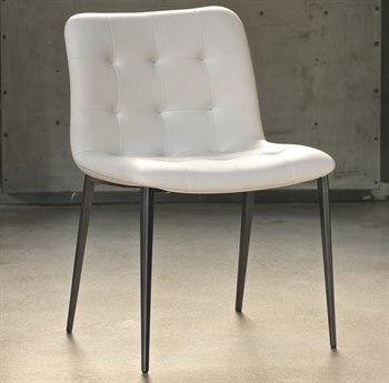 Bontempi Kuga Natural Silver / White Side Dining Chair