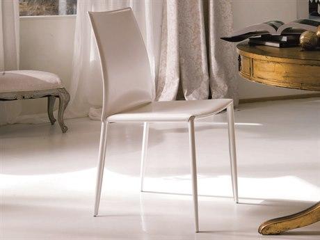 Bontempi Linda White Side Dining Chair BON04.26Q429