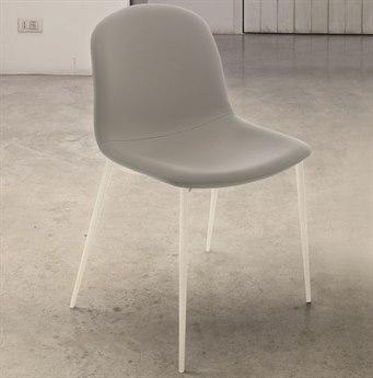 Bontempi Seventy White / Light Gray Side Dining Chair