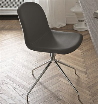 Bontempi Seventy Chrome / Anthracite Side Swivel Dining Chair BON4051G093TR517