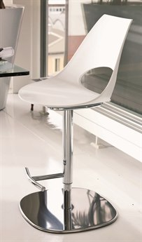 Bontempi Shark White Side Adjustable Swivel Bar Height Stool BON0446G093Z031