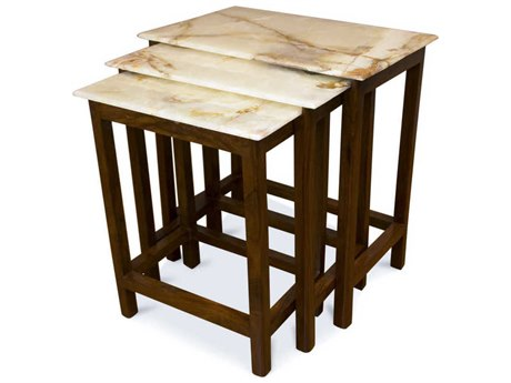 Boston Mills Tyl Onyx with Rosewood 19''W x 12''D Rectangular Nesting Table BSMBMNEOX