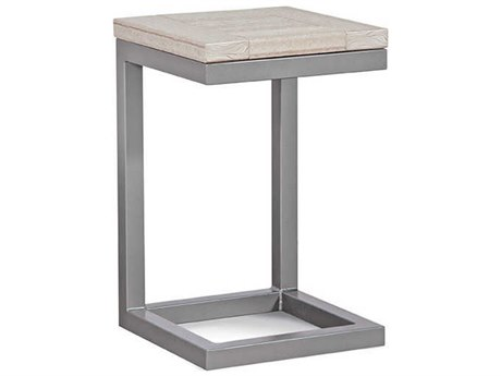 Braxton Culler Alghero Antique Birch / Gunmetal 15'' Wide Square End Table BXC497171