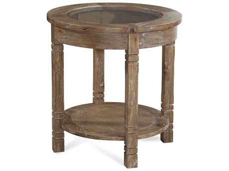 Braxton Culler Farmhouse Aged Chestnut 25'' Wide Round End Table BXC835022