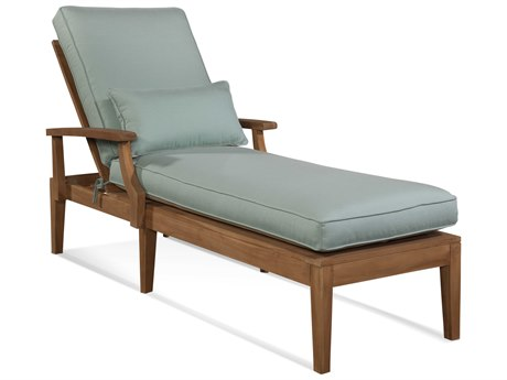Braxton Culler Messina Teak Adjustable Chaise Lounge Chair BXC489092