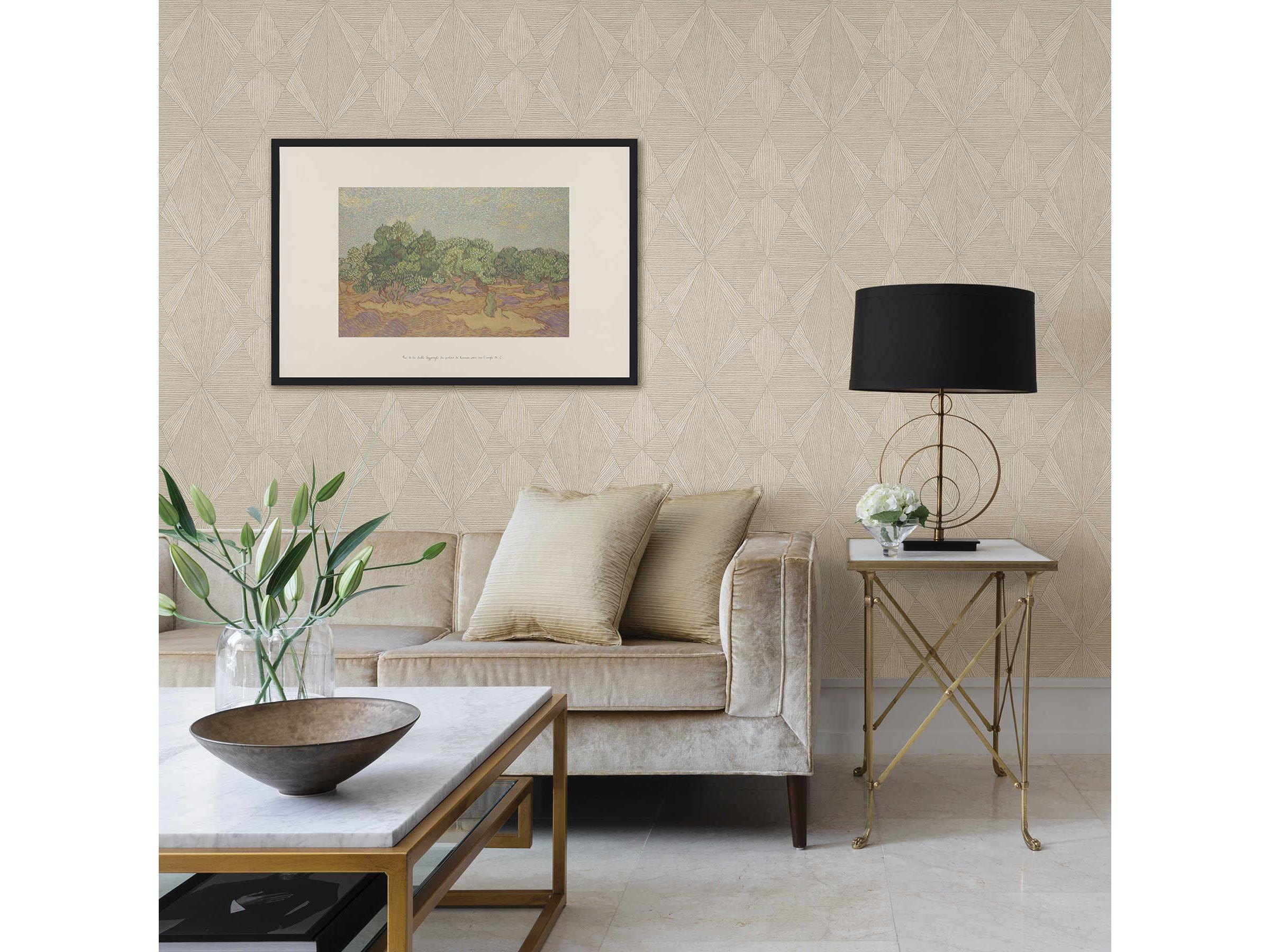 Brewster Home Fashions A Street Prints Intrinsic Cream Geometric Wood Wallpaper Sold In 2 Bhf290825332