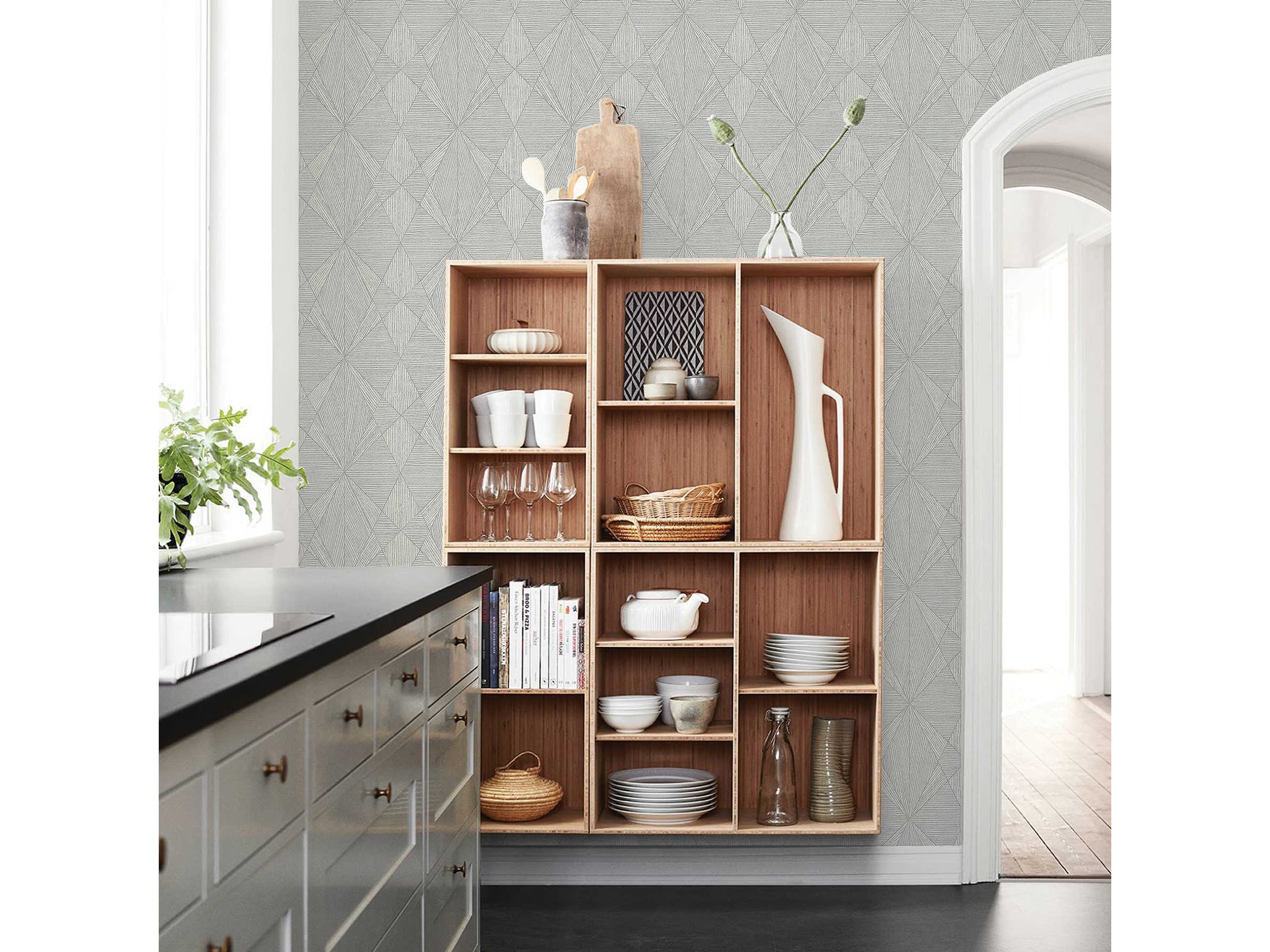 Brewster Home Fashions A Street Prints Intrinsic Silver Geometric Wood Wallpaper Sold In 2 Bhf290825333