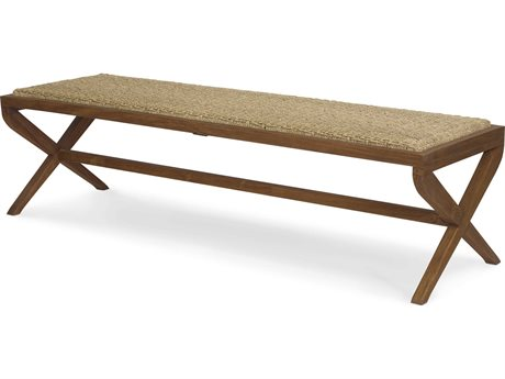 Brownstone Furniture Turner Mesa Smooth / Sea Grass Accent Bench