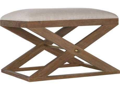 Brownstone Furniture Atherton Cerused Teak Accent Stool
