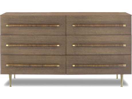 Brownstone Furniture Audrey Toffee / Brass Six-Drawers Double Dresser BRNAD101