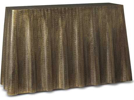 Brownstone Furniture Bijou Drape Antiqued Brass 52''L x 16''W Rectangular Console Table BRNBJ501