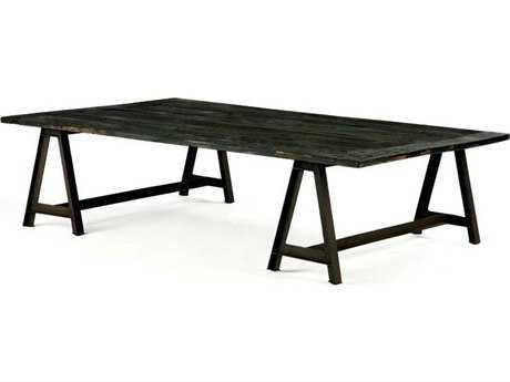 Brownstone Furniture Billings 52''L x 32''W Rectangular Charcoal Reclaimed Elm Top Coffee Table