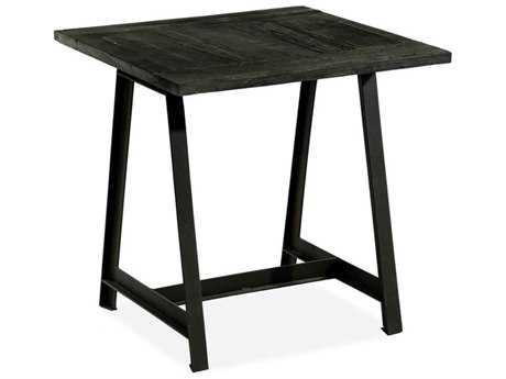 Brownstone Furniture Billings 26'' Square Charcoal Reclaimed Elm Top End Table BRNBG500