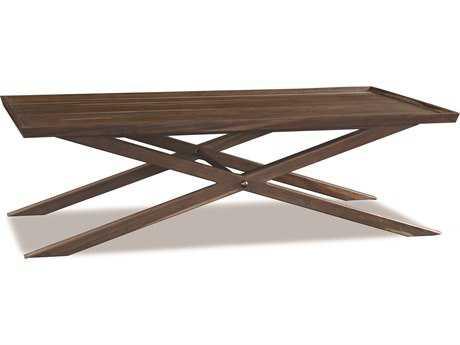 Brownstone Furniture Crawford 58''L x 32''W Rectangular Sepia X-Base Coffee Table
