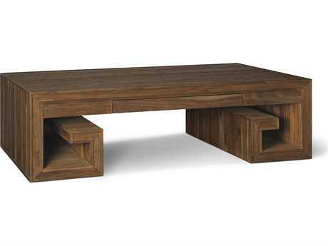 Brownstone Furniture Crawford 60''L x 36''W Rectangular Sandblasted Sepia Coffee Table BRNCW504