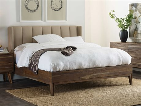 Brownstone Furniture Crawford Sandblasted Sepia Queen Size Platform Bed BRNCW117