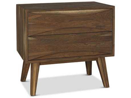 Brownstone Furniture Crawford 30''W x 19''D Rectangular Sandblasted Sepia Nightstand BRNCW105