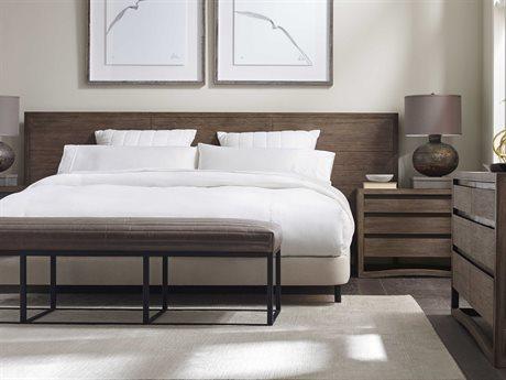 Brownstone Furniture Dalton Nutmeg Eastern King Size Platform Bed