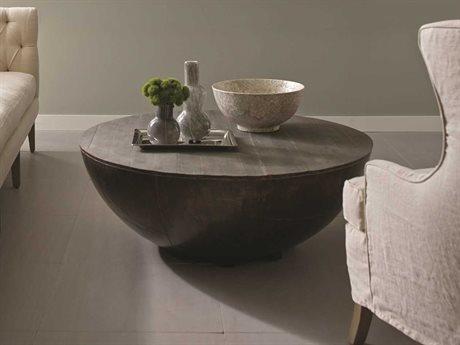 Brownstone Furniture Delano Living Room Table Antique Brass Top BRNDL503