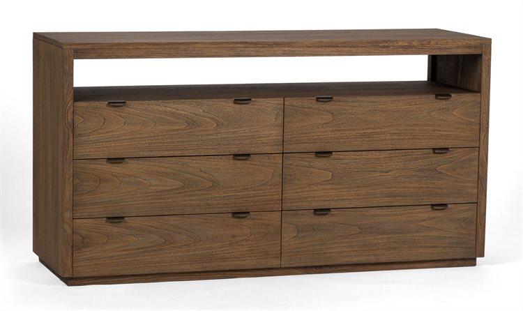 Brownstone Furniture Mesa 6 Drawers Double Dresser Brnlu101