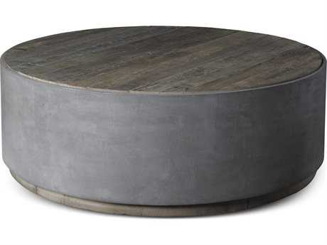 Brownstone Furniture Griffin Natural Elm with Pewter Gray 48'' Wide Round Coffee Table BRNGF502