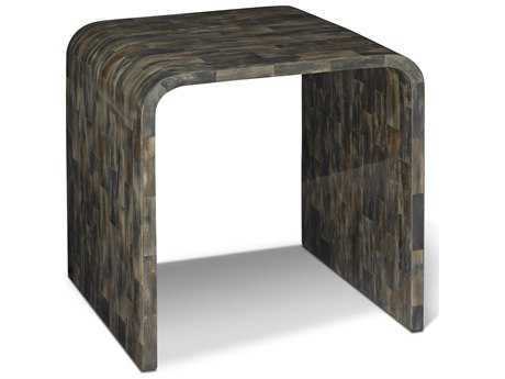 Brownstone Furniture Hayden 25'' Square Gray Brown Horn from the Water Buffalo End Table BRNHA500