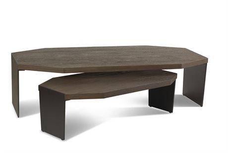 Brownstone Furniture Jasper Nutmeg 58''L x 32'' Wide Hexagon Nesting Table BRNJP502X