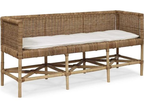 Brownstone Furniture Lina Natural Rattan Accent Bench