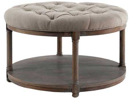Brownstone Furniture Lorraine 36'' Round Antique Oak Cocktail Table BRNLR500