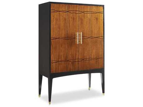 Brownstone Furniture Madison Cognac Doors with Ebony Bar Cabinet BRNMDG400