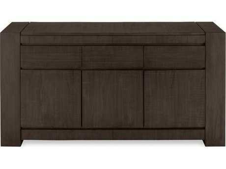 Brownstone Furniture Messina 66L x 21''W Rectangular Smokey Brown Sever Buffet BRNME305
